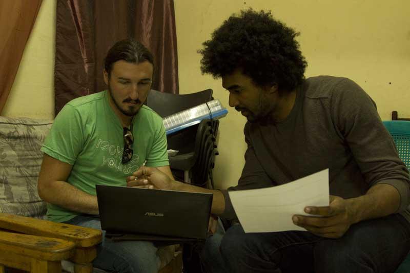 Scott and Ashoka compare notes.