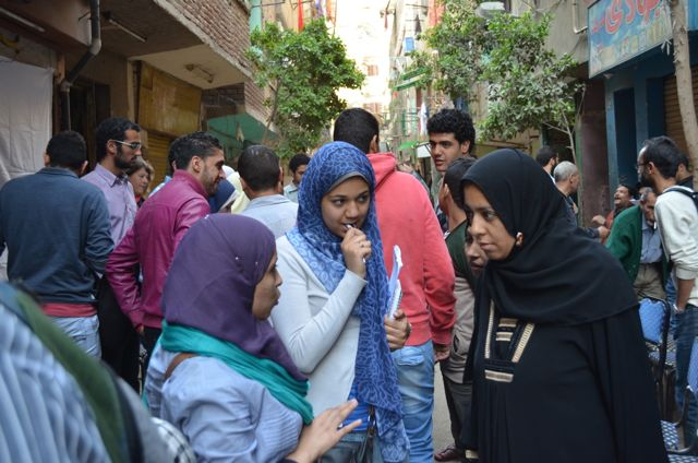 Out on the streets for the Cairo survey.