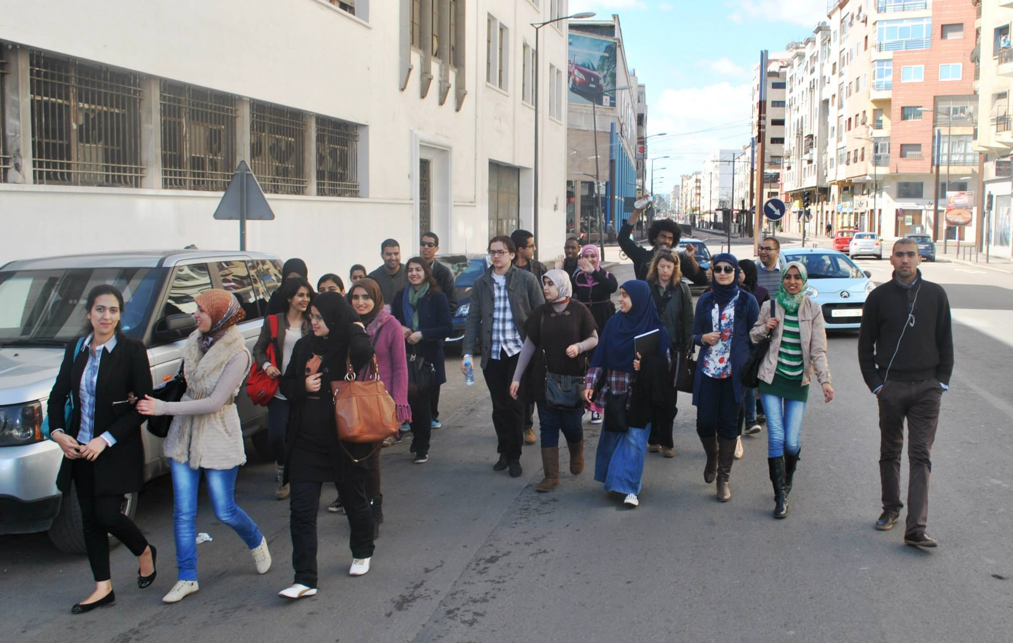 Hitting the streets in Casablanca for the pilot survey.