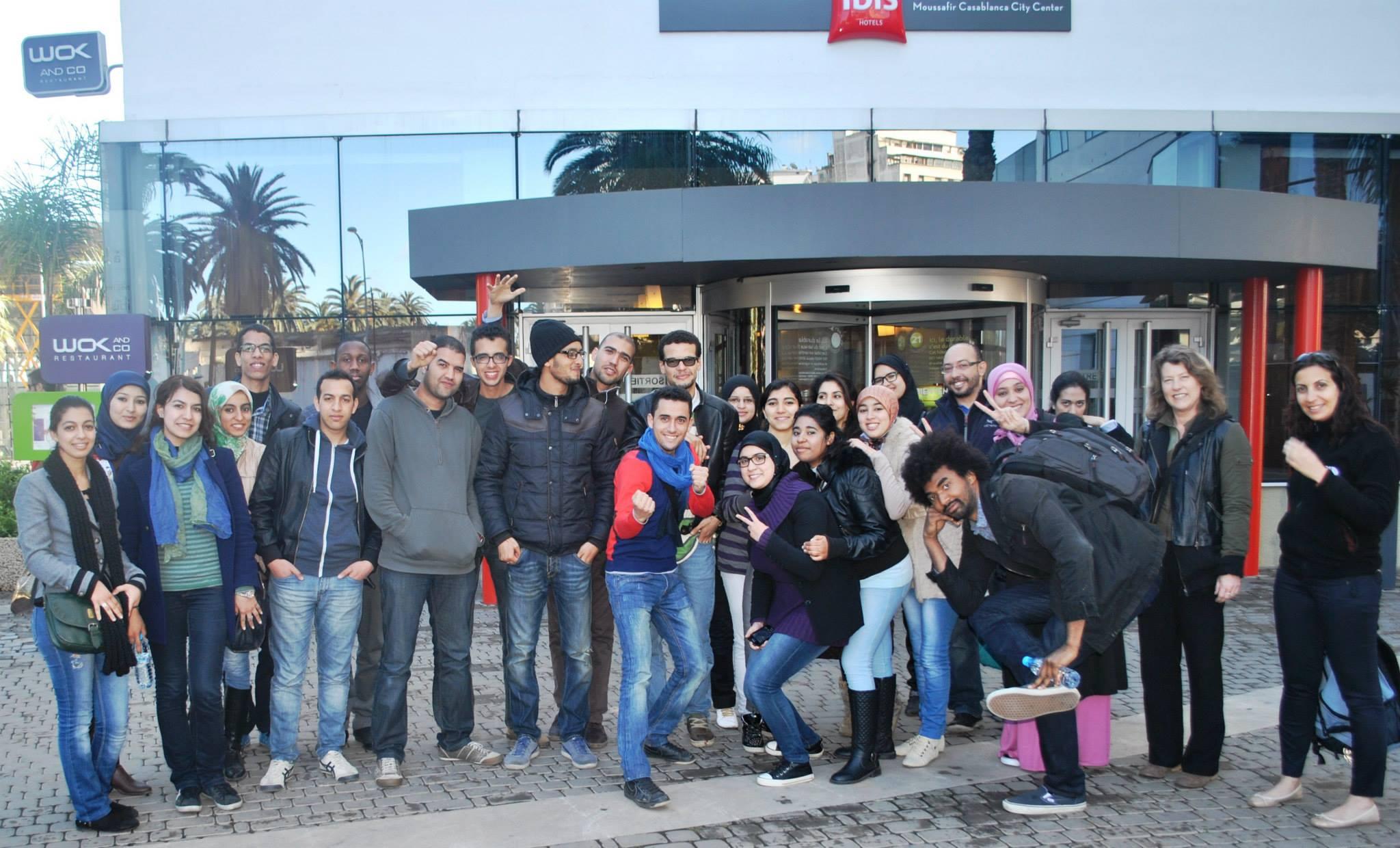 team members in Casablanca