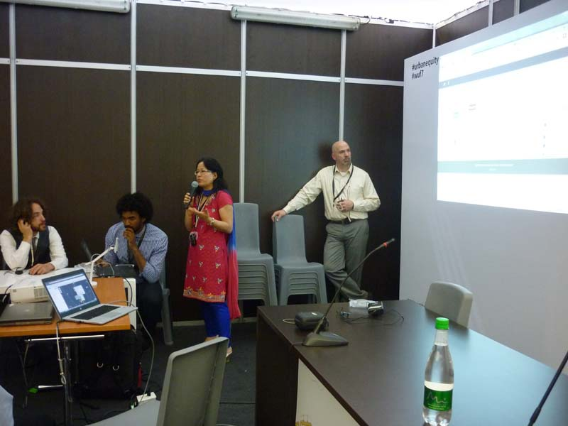 Our colleague from Nepal speaks at our training events