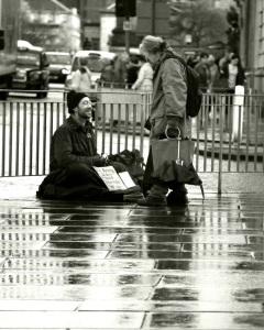 Poverty in the midst of plenty.